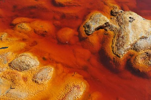 Contaminated water, Rio Tinto Mines, Huelva